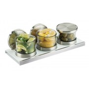 Cal-Mil Luxe 3 Piece Jar Set w/ Hinged Lid