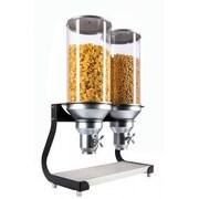 Cal-Mil 456.49 Oz. Double Canister Cylinder Cereal Dispenser; Black