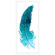 Hand Colored Art Feather I Framed Giclee Print