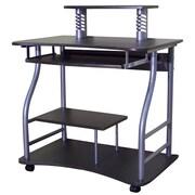Hazelwood Home AMT Writing Desk; Black Glass