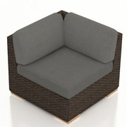 Harmonia Living Arden Corner Section Chair w/ Cushion; Canvas Charcoal
