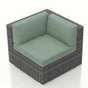 Harmonia Living District Corner Section Chair w/ Cushion; Canvas Spa