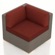 Harmonia Living Element Corner Section Chair w/ Cushion; Canvas Henna
