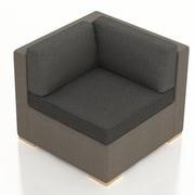 Harmonia Living Element Corner Section Chair w/ Cushion; Spectrum Indigo