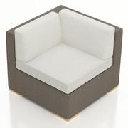 Harmonia Living Element Corner Section Chair w/ Cushion; Canvas Natural
