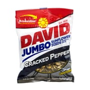 David Jumbo Seeds Cracked Pepper, 5.25 oz, 12 Count