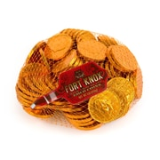 Fort Knox Milk Chocolate 1.5-inch Coins - Orange Foil: 1 LB