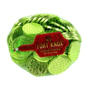 Fort Knox Milk Chocolate 1.5-inch Coins Light Green Foil: 1 LB