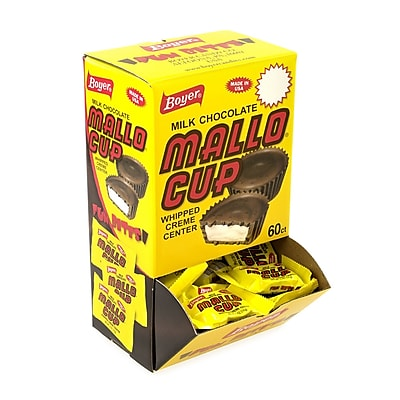 Boyer Mallo Cup Milk Chocolate Box, .5 oz, 60 Count 2596698