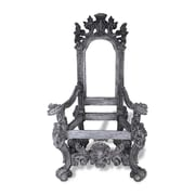 Amedeo Design ResinStone Throne Chair; Charcoal