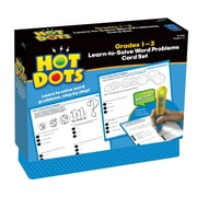 Educational Insights® Hot Dots Learn To Solve Word Problems Set, Grades 1st -3rd