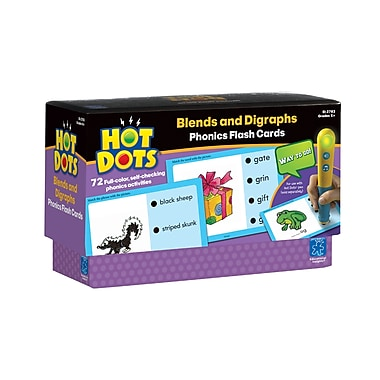 Educational Insights® Hot Dots® Phonics Program Set 4, Blends and Digraphs