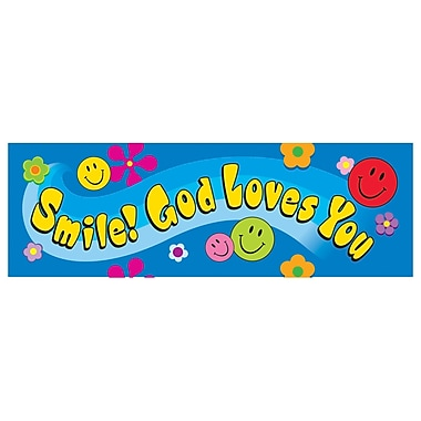 Trend Enterprises® Smile God Loves You Bookmark, Grades Kindergarten - 9th