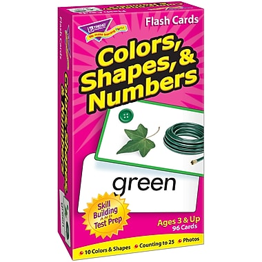 Trend Enterprises® Skill Drill Flash Cards, Color, Shape and Number