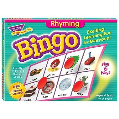 Trend Enterprises® Rhyming Bingo Game, Grades Pre Kindergarten - 2nd