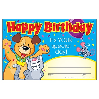 Trend Enterprises® Recognition Awards, Happy Birthday. It's Your Special Day!