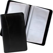 JAM Paper® Business Card Holder Book, 120 cards, Black, Sold Individually (22113685)