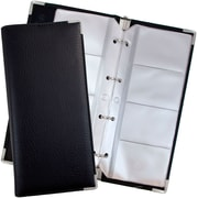 JAM Paper® Business Card Holder Book, 160 cards, Black, Sold Individually (221119110)