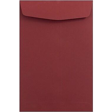 JAM Paper® 6 x 9 Open End Catalog Envelopes, Dark Red, 100/pack (31287522)