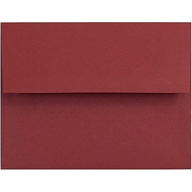 JAM Paper® A2 Invitation Envelopes, 4 3/8 x 5 3/4, Dark Red, 25/pack (31511305)