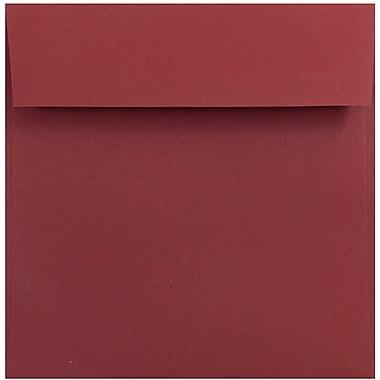 JAM Paper® 6 x 6 Square Envelopes, Dark Red, 25/pack (31511296)