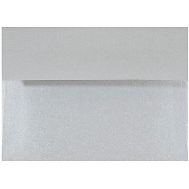JAM Paper® 4bar A1 Envelopes, 3 5/8 x 5 1/8, Stardream Metallic Silver, 25/pack (V018243)