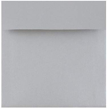 JAM Paper® 6 x 6 Square Envelopes, Stardream Metallic Silver, 25/pack (V018307)