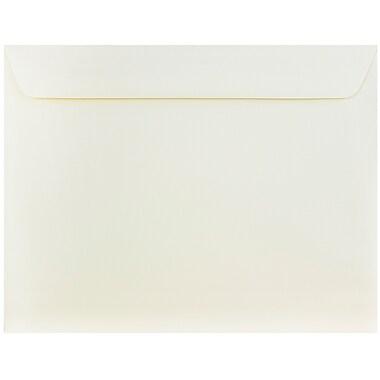 JAM Paper® 10 x 13 Booklet Envelopes, Strathmore Ivory Wove, 25/pack (194505)