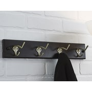 Richelieu Wall Mounted Coat Rack; Espresso/Pewter