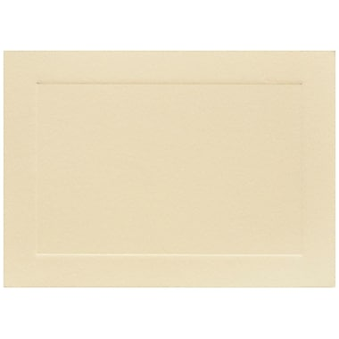 JAM Paper® Blank Note Cards, 4bar size, 3 1/2 x 4 7/8, Ivory with Panel Border, 100/pack (175964)