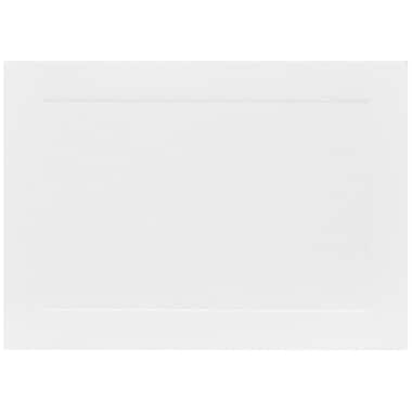 JAM Paper® Blank Note Cards with Panel Border, 4bar size 3 1/2 x 4 7/8, White, 500/box (0175965B)