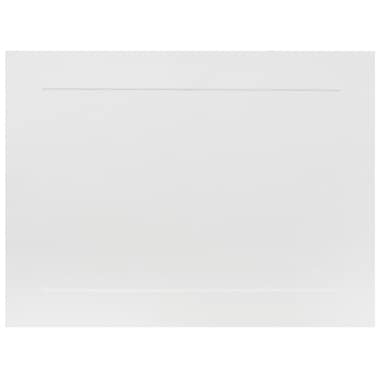 JAM Paper® Blank Note Cards, White with Panel Border, A6 size, 4 5/8 x 6 1/4, 100/pack (1751001)