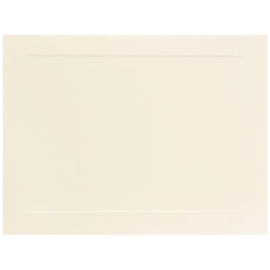JAM Paper® Blank Note Cards with Panel Border, A7 size, 5 1/8 x 7, Ivory, 100/Pack (98040)