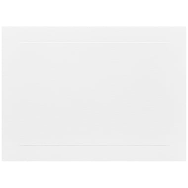 JAM Paper® Blank Note Cards with Panel Border, A7 size, 5 1/8 x 7, White, 500/box (01751009B)