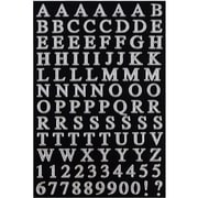JAM Paper® Self Adhesive Alphabet Letters Stickers, Silver, 242/Pack (132811517)