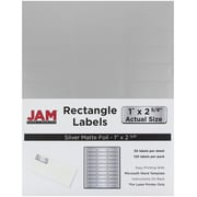 JAM Paper® Mailing Address Labels, 1 x 2 5/8, Silver Metallic, 120/pack (40732536)