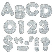 "Trend Enterprises® Casual Sparkles Ready Uppercase Letter, 4"", Silver"