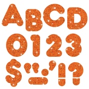 "Trend Enterprises® 4"" Orange Sparkle Uppercase Letter, Grades Pre Kindergarten - 9th"