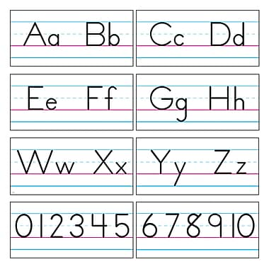 Trend Enterprises® Bulletin Board Set, Basic Alphabet, Zaner-Bloser Manuscript