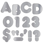 "Trend Enterprises® Casual Ready Uppercase Letter, 2"", Silver"