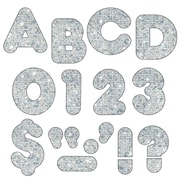 "Trend Enterprises® Casual Sparkles Ready Uppercase Letter, 2"", Silver"