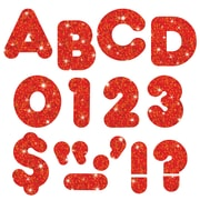 "Trend Enterprises® Ready Uppercase Letter, 3"", Sparkle Glitter, Red"