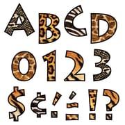 "Trend Enterprises® Ready Venture Uppercase Letter, 4"", Animal Prints"