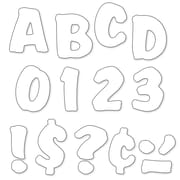"Trend Enterprises® Ready Splash Uppercase Letter, 4"", White"