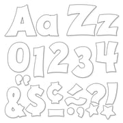 """Trend Enterprises® Friendly 4"""" Uppercase/Lowercase Ready Letters® Combo Pack, White"""
