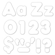 "Trend Enterprises® Casual 4"" Uppercase/Lowercase Ready Letters® Combo Pack, White"