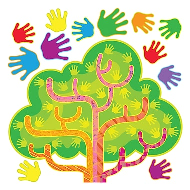 Trend Enterprises® Bulletin Board Set, Hands In Harmony Learning Tree