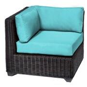 TK Classics Venice Corner Chair w/ Cushions; Aruba