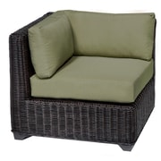 TK Classics Venice Corner Chair w/ Cushions; Cilantro
