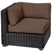 TK Classics Venice Corner Chair w/ Cushions; Cocoa